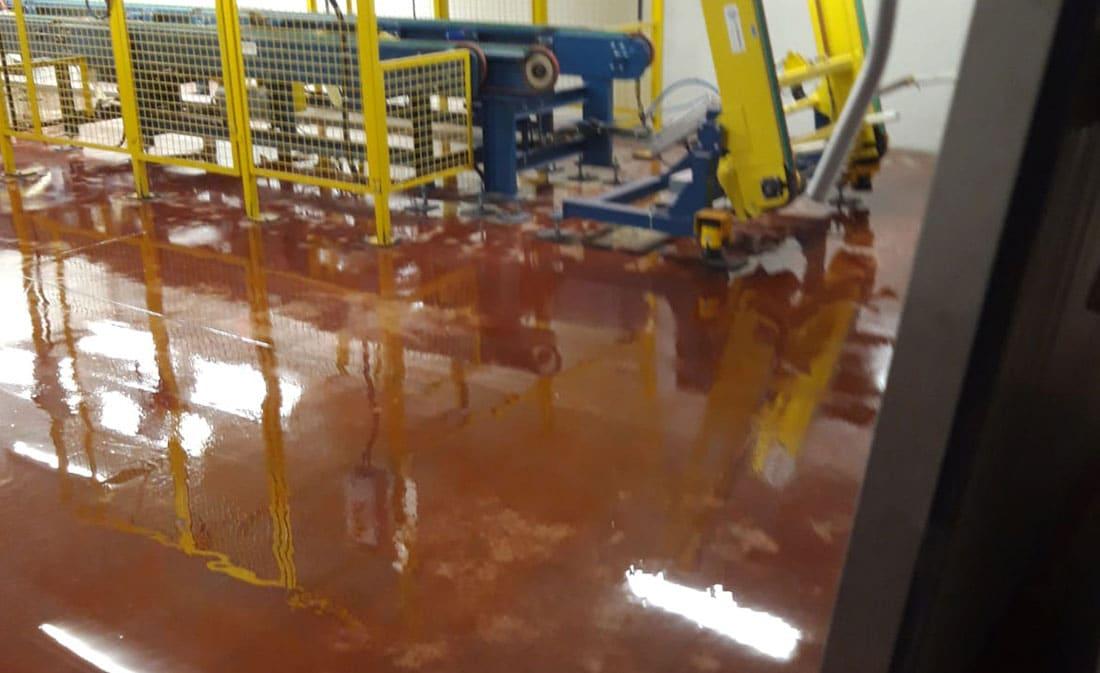 Sistem epoxidic autonivelnt – Belgia – EMS Floor Group