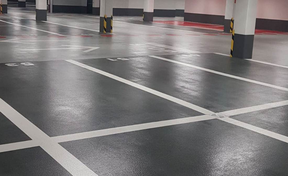 SISTEM – epoxidic PARKING AUCHAN LUXEMBOURG - EMS Floor Group