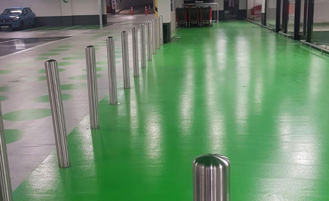 SISTEM – epoxidic PARKING AUCHAN LUXEMBOURG - EMS Floor Group