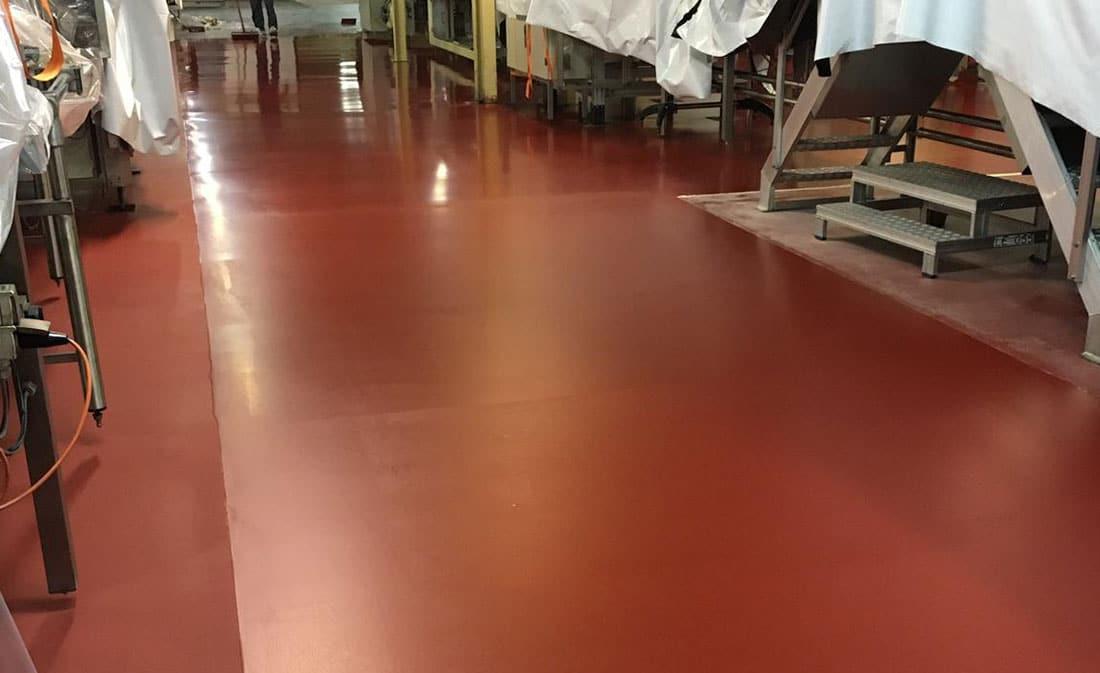 Sistem Pardoseli poliuretanice pe bază de mortare poliuretanice autonivelante – Belgia – Fabrica de ciocolata – EMS Floor Group-9