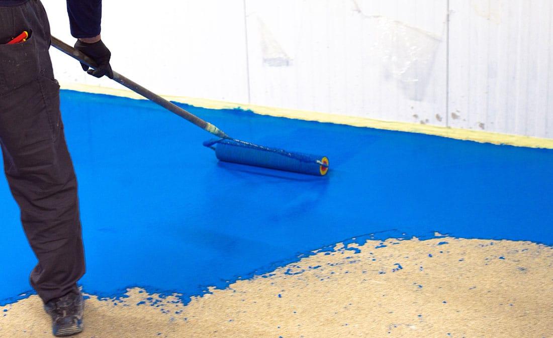 Pardoseli poliuretanice pe bază de mortare poliuretanice cu adaos cimentos