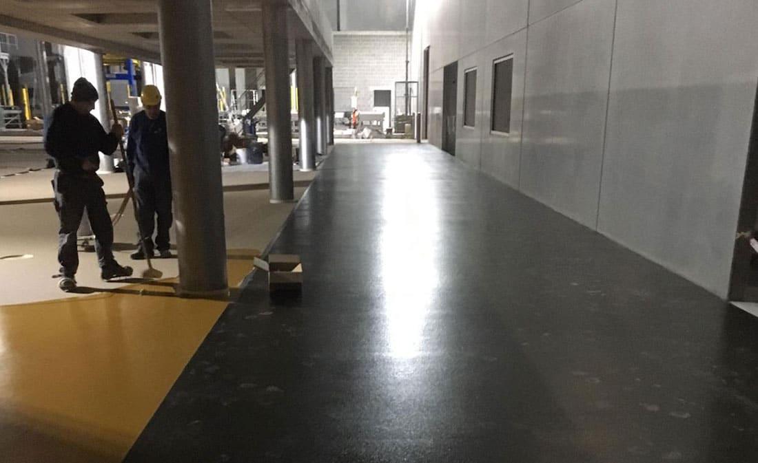 Sistem Pardoseli poliuretanice pe bază de mortare poliuretanice presărate și sigilate – Belgia – EMS Floor Group-2