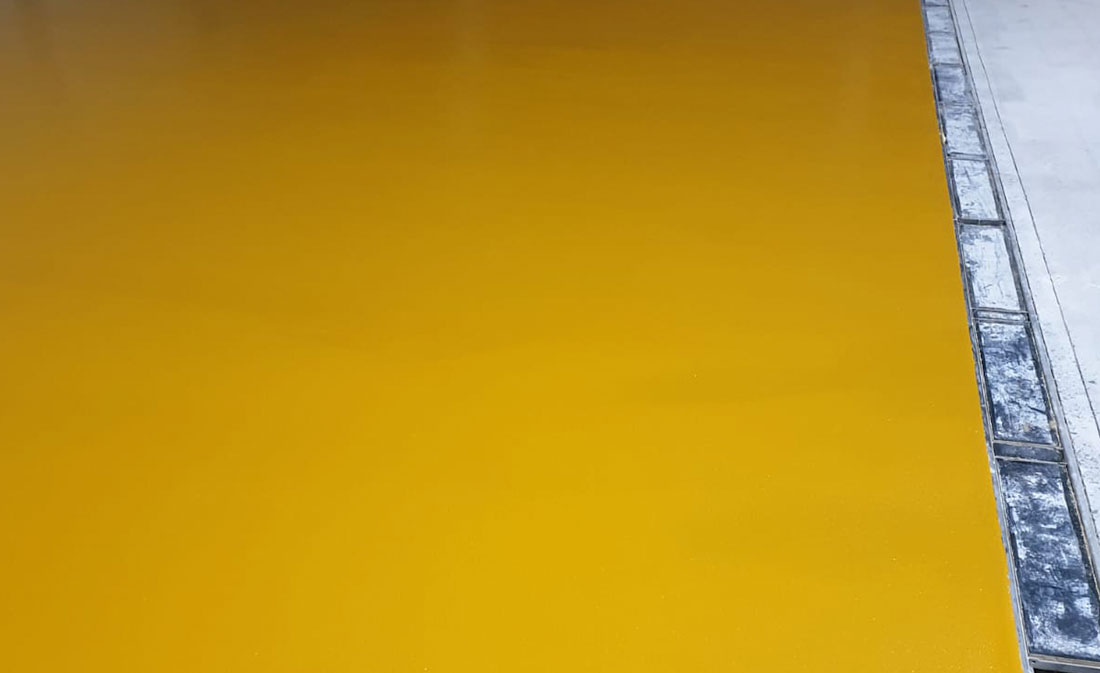 Sistem Pardoseli poliuretanice pe bază de mortare poliuretanice presărate și sigilate - Belgia - EMS Floor Group