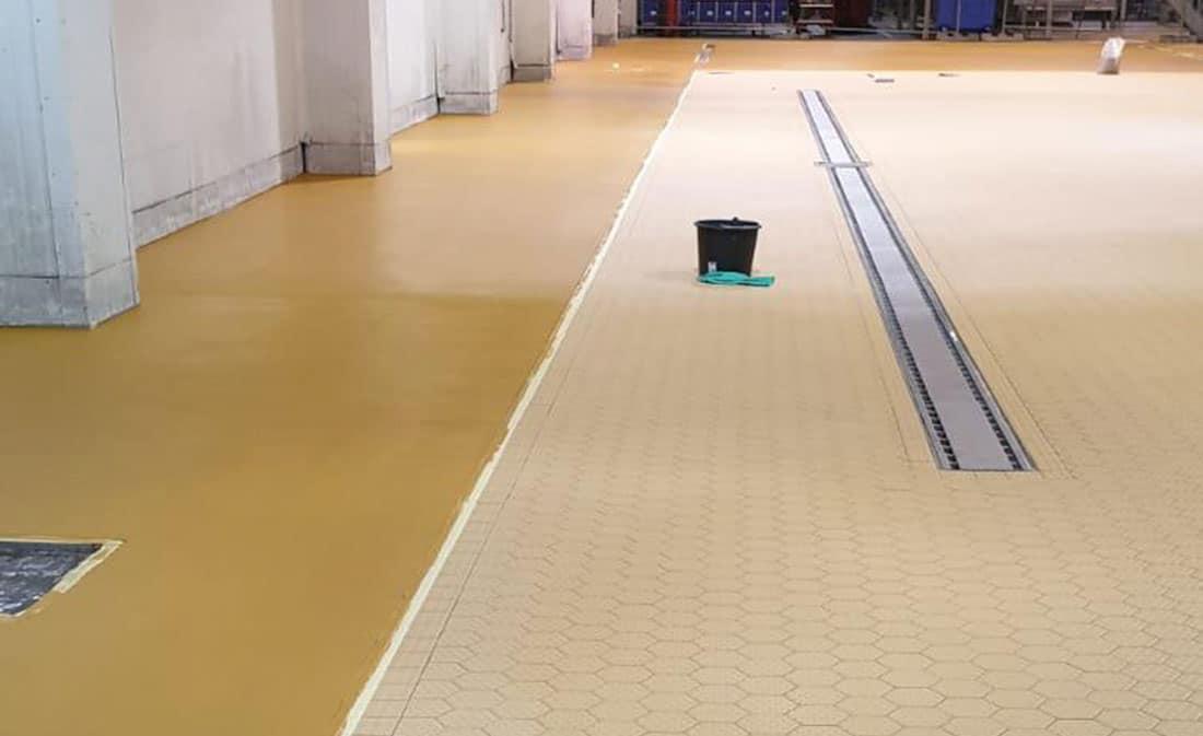 Sistem Pardoseli poliuretanice pe bază de mortare poliuretanice presărate și sigilate – Belgia – EMS Floor Group-6